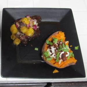 Pineapple Caribbean Jerk Steak